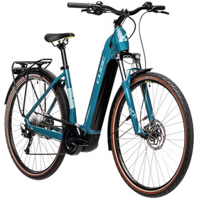 Cube Touring Hybrid One 400 Easy Entry blue'n'green